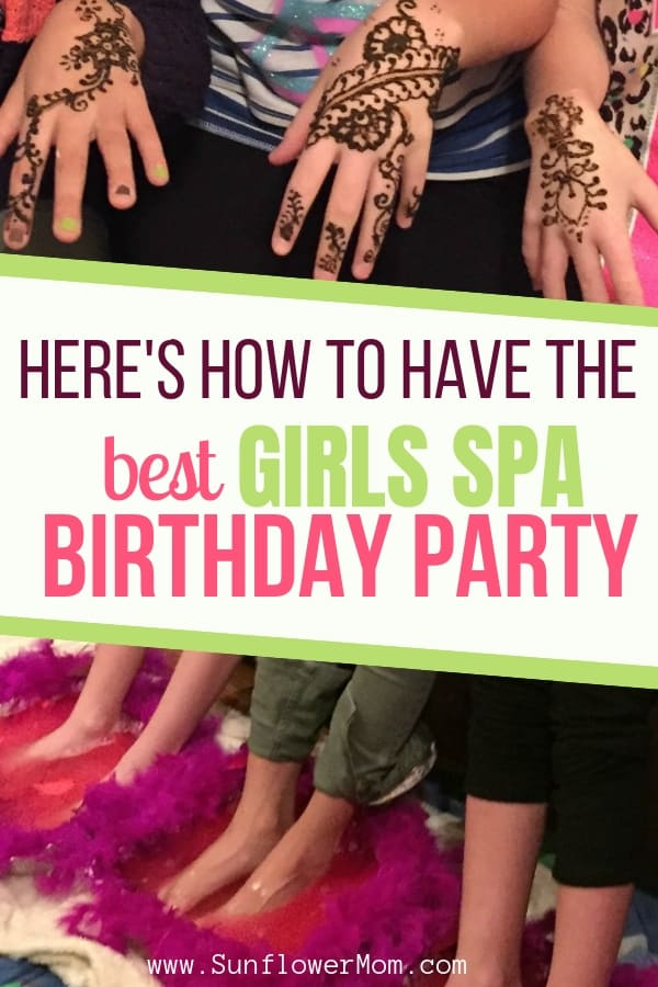 Do you want to throw your daughter the best girls spa birthday party at home? And keep the costs low? Here\'s how I managed to do exactly that for my daughter\'s 10th birthday party with five of her friends. #Parenting #party #BirthdayParty #SunflowerMom