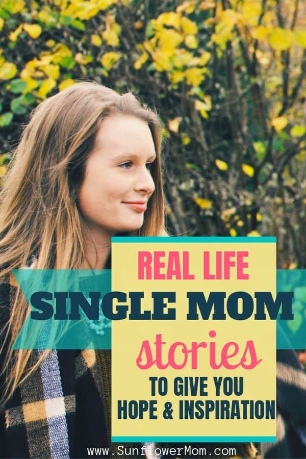 Check out these single mom success stories from everyday women to give you hope and encouragement on your single motherhood journey. These single moms (current or former) conquered the overwhelm and show you how you can too! #singlemom #singleparents #sunflowermom