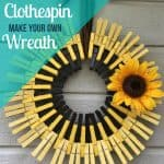 How to Make Clothespin Wreaths
