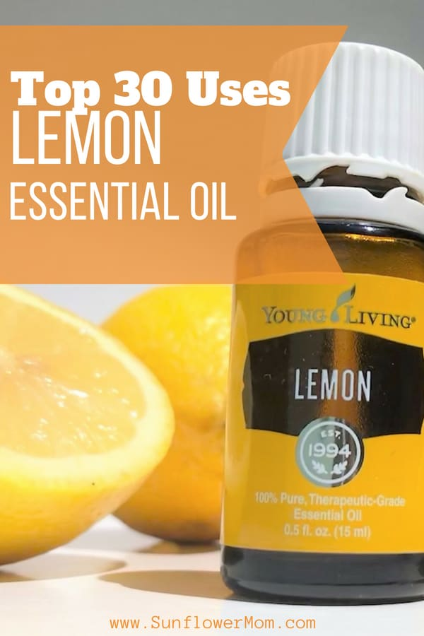 Check out these top 30 uses for lemon essential oil in ways you may have never heard of.  Get started replacing the toxic chemicals in your house today. #Natural #Wellness #EssentialOils #HealthyLiving #Aromatherapy #EssentialOilBlends