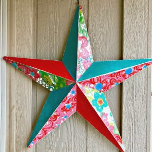 wall decor star finished