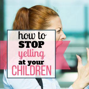 yelling at kids